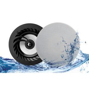 "Lithe Audio 6.5"" Bluetooth 5 IP44 Rated Bathroom Ceiling Speaker Pair"
