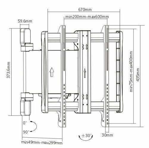 "Lithe Audio Motorised Curved & Flat Panel TV Wall Mount - 32""/60"""