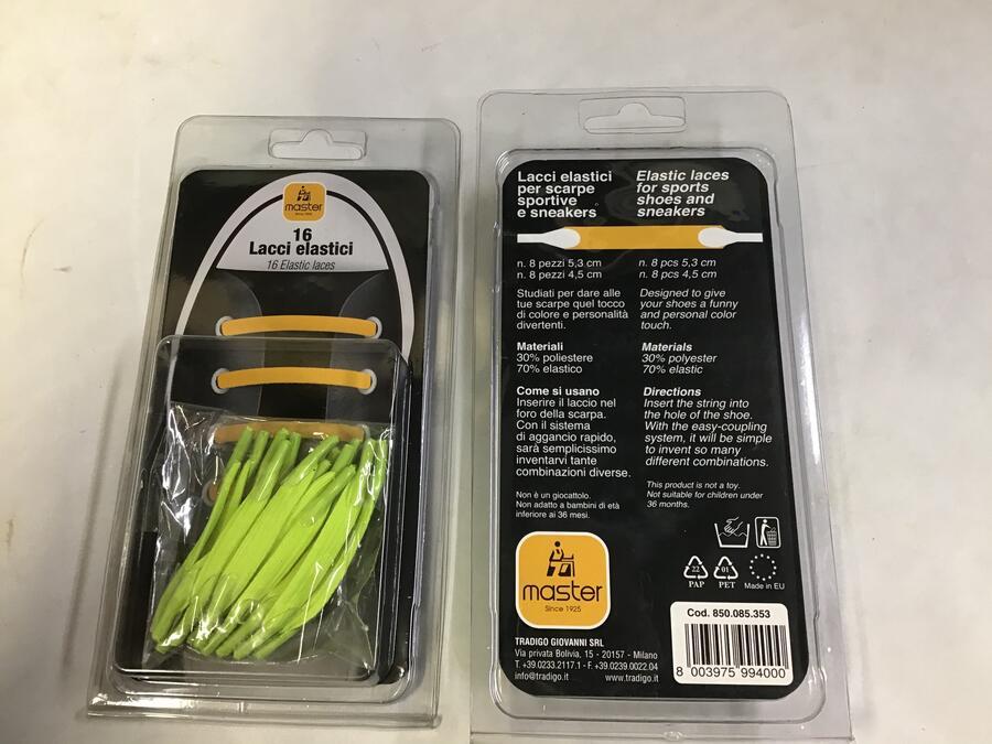 Lacci Elastici Verde Fluorescente
