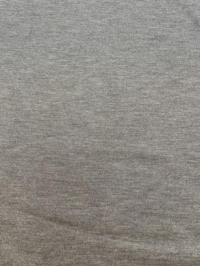 Maglina Jersey cotone lurex grigio