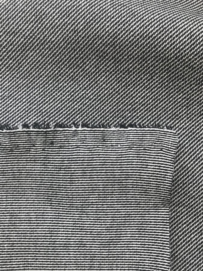 Maglina Jersey di cotone nero e bianco