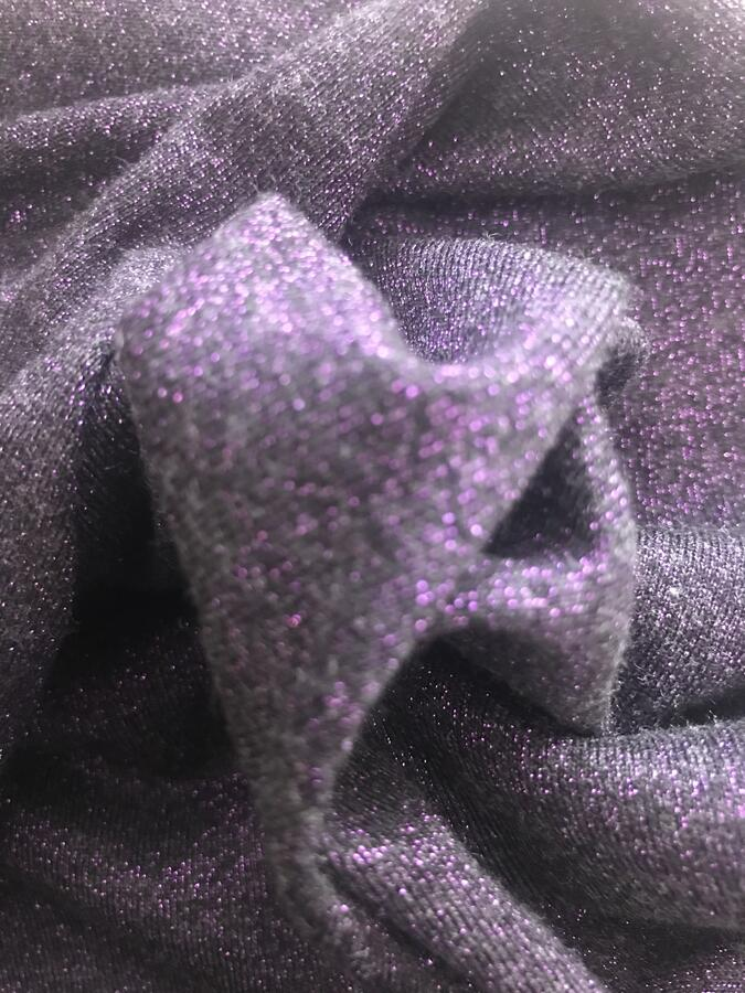 Maglina Jersey cotone lurex viola