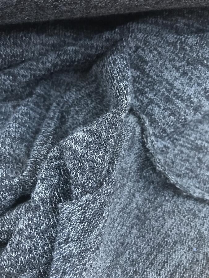 Maglina di lana grigio antracite melange