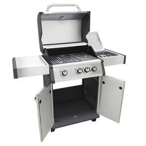 Barbecue in acciaio MONTANA 4 a gas 4 fuochi + 1 fornello acciaio inox cm 120 x 57 x 114 h