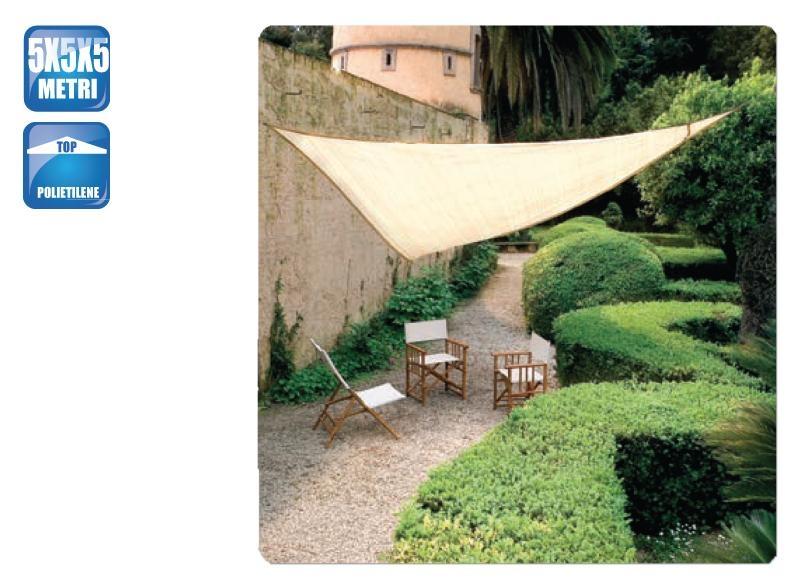 Tenda A Vela Per Terrazzo : Tenda a vela ombreggiante triangolare ecrù sabbia per ombra