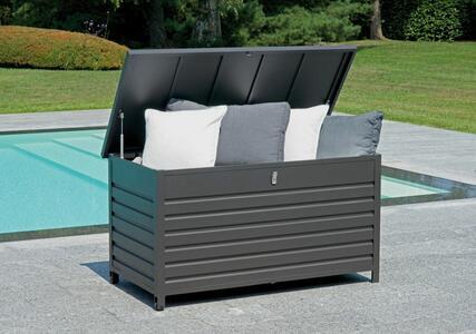 Box portacuscini da esterno in alluminio 138 x 72 x 72 modello MEMPHIS codice MBX 01 gr