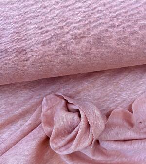 Maglina Jersey cotone e lino rosa antico