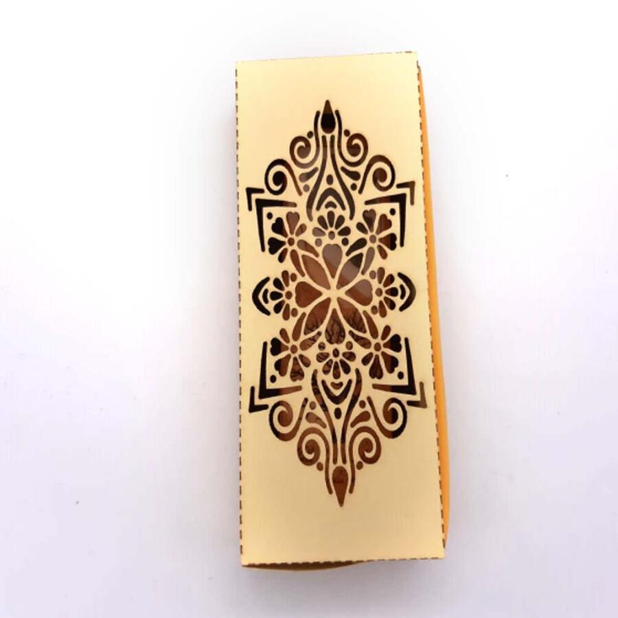 Scatola in cartoncino bristol porta segnalibro completa di spugna