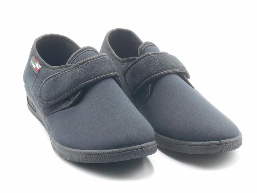 Gaviga 902 pantofole invernali donna elasticizzate con velcro