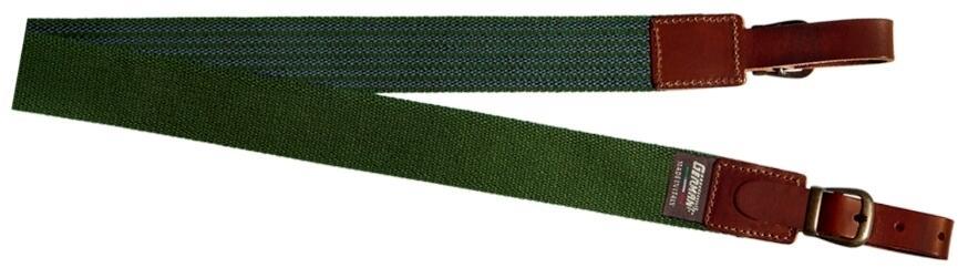 Bretella per fucile in tessuto colore verde militare mm.35 con antiscivolo