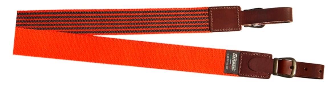 Bretella per fucile in tessuto colore arancio fluo mm.35 con antiscivolo