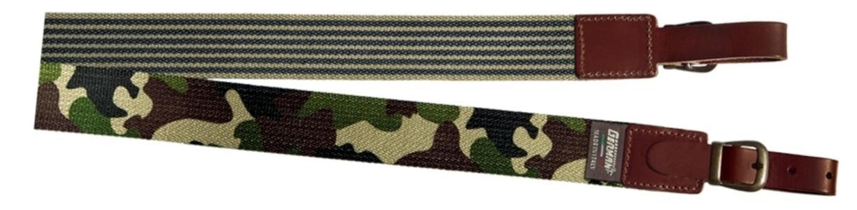 Bretella per fucile in tessuto colore mimetico mm.35 con antiscivolo