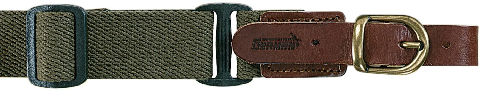Bretella per fucile registrabile in tessuto colore verde militare mm.30