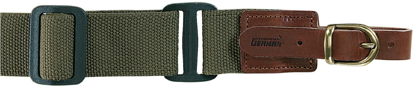 Bretella per fucile registrabile in tessuto colore verde militare mm.40
