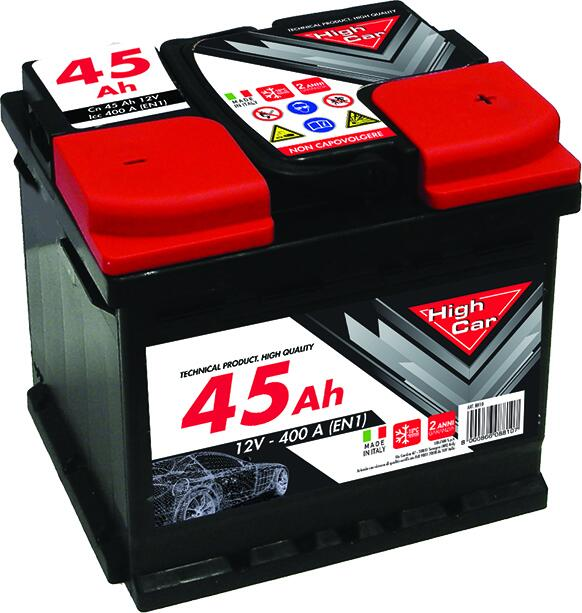 BATTERIA HIGH-CAR 45AH 400EN CASSETTA L1