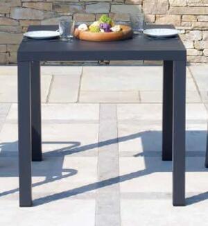 TAVOLO da giardino SAN VINCENZO 80x80 cm alluminio ANTRACITE STA 23 GR