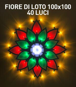 FIORE DI LOTO MAXI 100x100 40 LUCI - LUMINARIA SALENTINA D'ARREDO