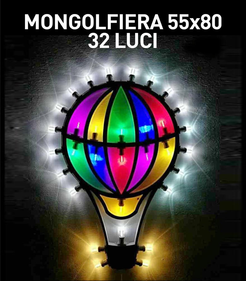 MONGOLFIERA 32 LUCI - LUMINARIA SALENTINA D'ARREDO