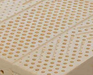 Materasso in Lattice 100% Mod. Silver Bed Fodera Argento da Cm 100x190/195/200 Zone Differenziate