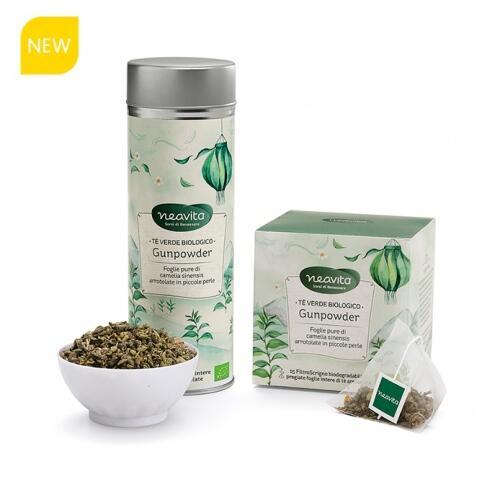 Neavita - Tè verde Gunpowder filtroscrigno bio