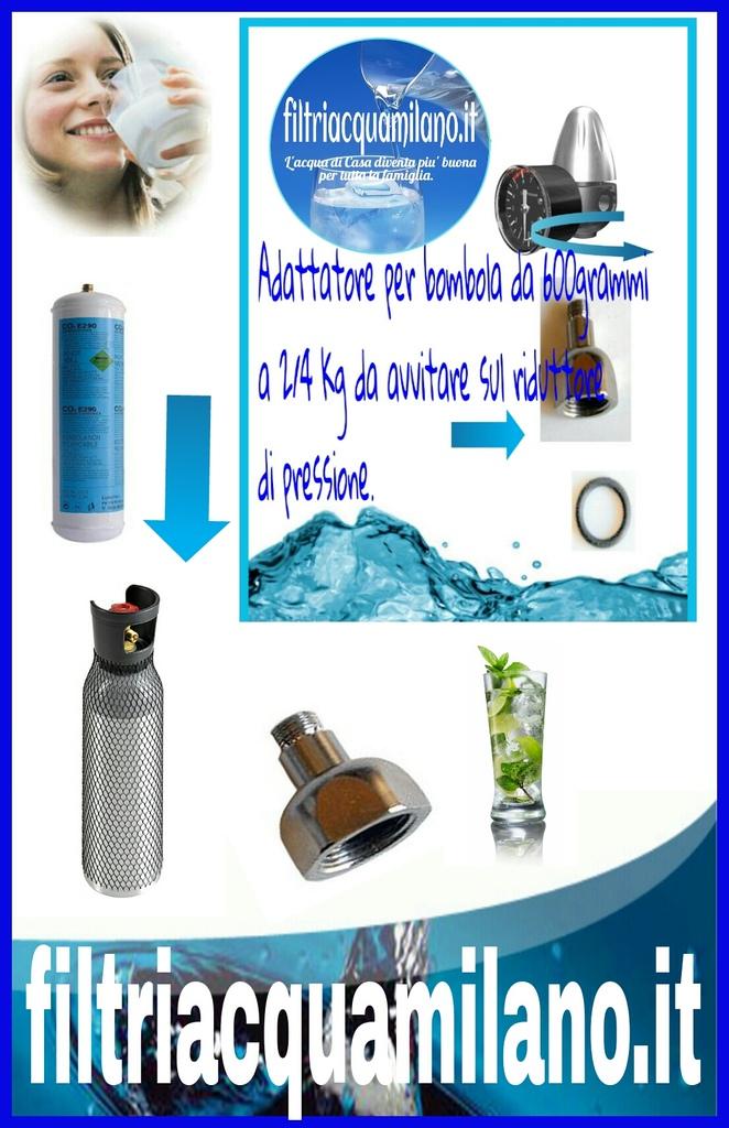 Adattatore per riduttore di pressione C02.