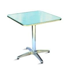 Tavolo Bar professionale quadrato 70 x 70 in alluminio e acciaio 1 gamba TC08