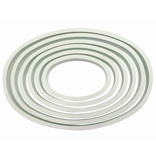 Set 6 stampi ovali plastica PME
