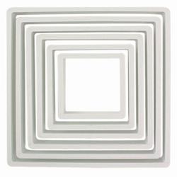 Set 6 stampi quadrati plastica PME