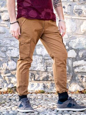 Jayant men's long jeans trousers – mustard