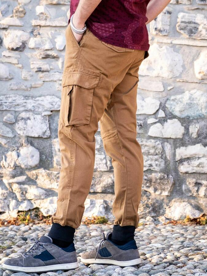 Jayant men's long jeans trousers – mustard