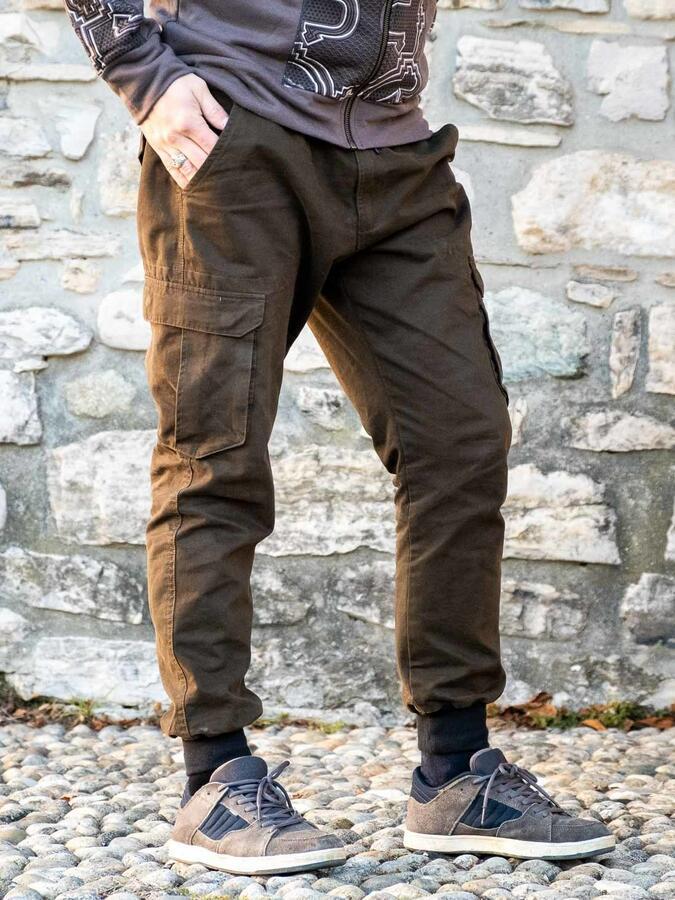 Jayant men's long jeans trousers – green