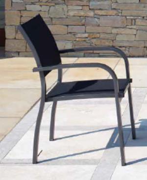 Sedia da giardino VIAREGGIO in alluminio antracite e textilene CHA 56 GR