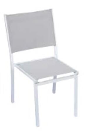 Sedia da giardino ELBA in alluminio BIANCO textilene CHA 55 BI