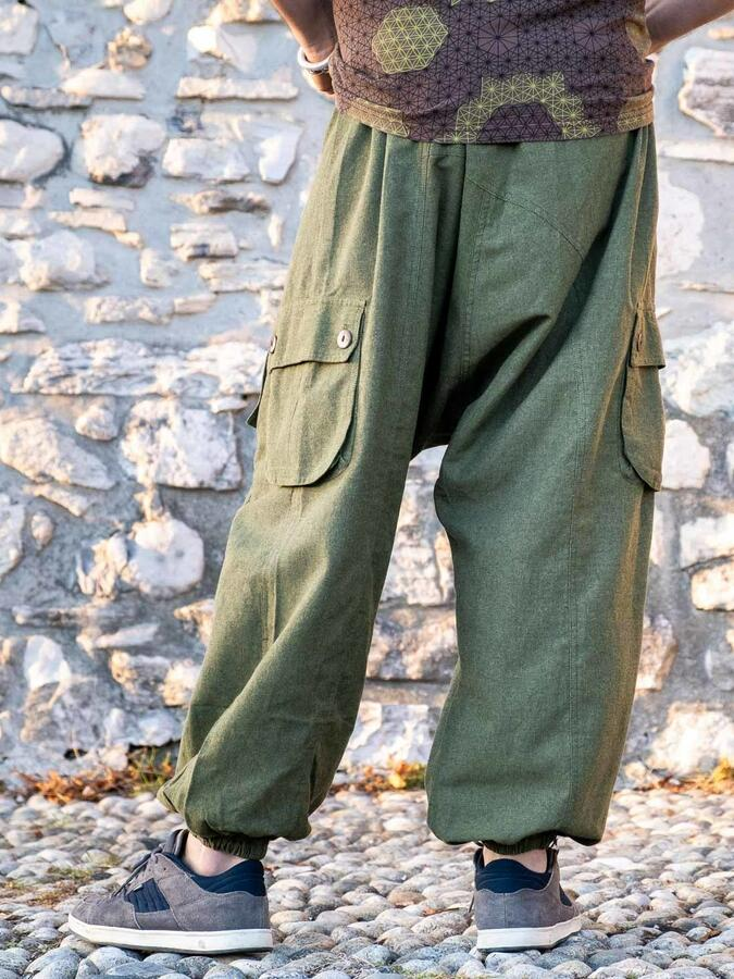 Pantalone uomo lungo Praney cavallo basso - verde