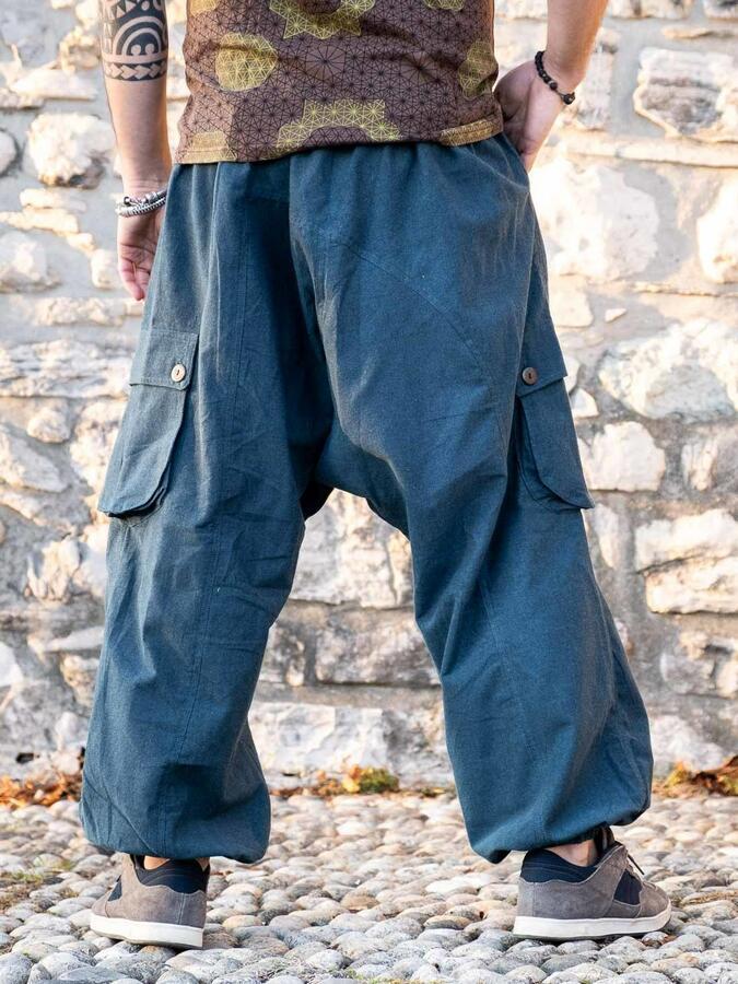 Pantalón hombre largo de entrepierna baja Praney - azul