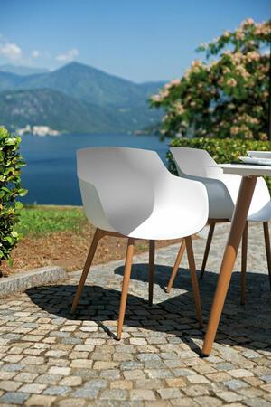 Sedia da giardino in alluminio e polipropilene SION Bianca CHA 47