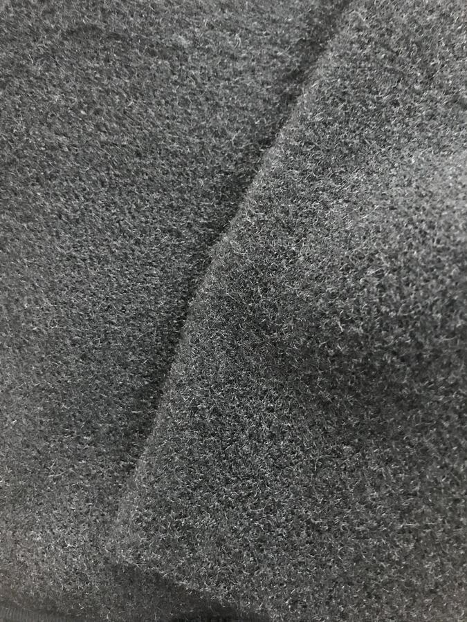 Tessuto cappotto nero