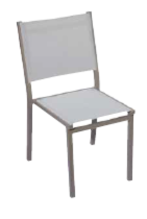 Sedia da giardino ELBA in alluminio TORTORA textilene CHA 55 TORTORA