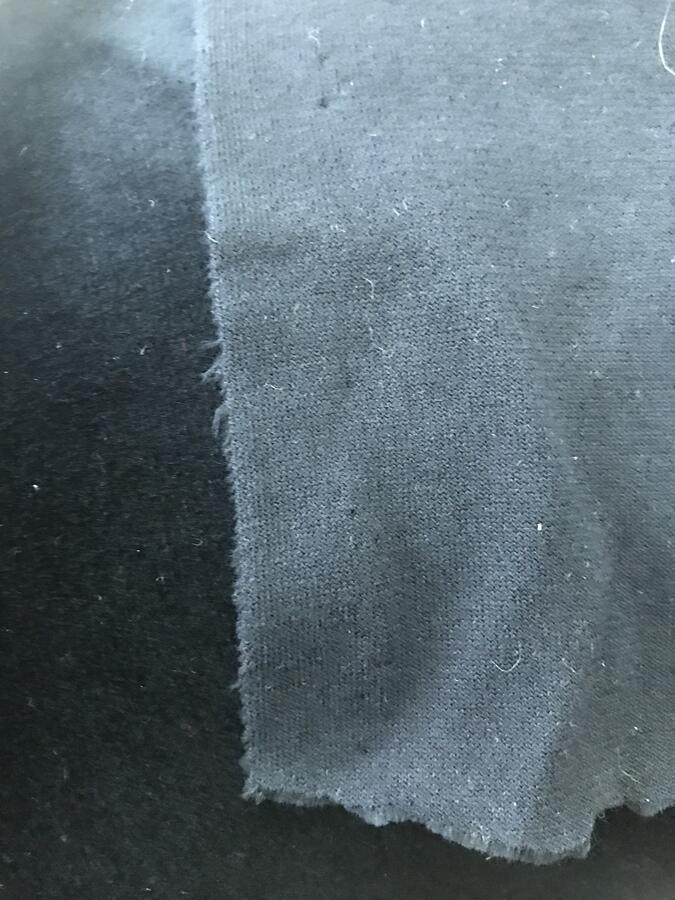 Velluto elasticizzato nero