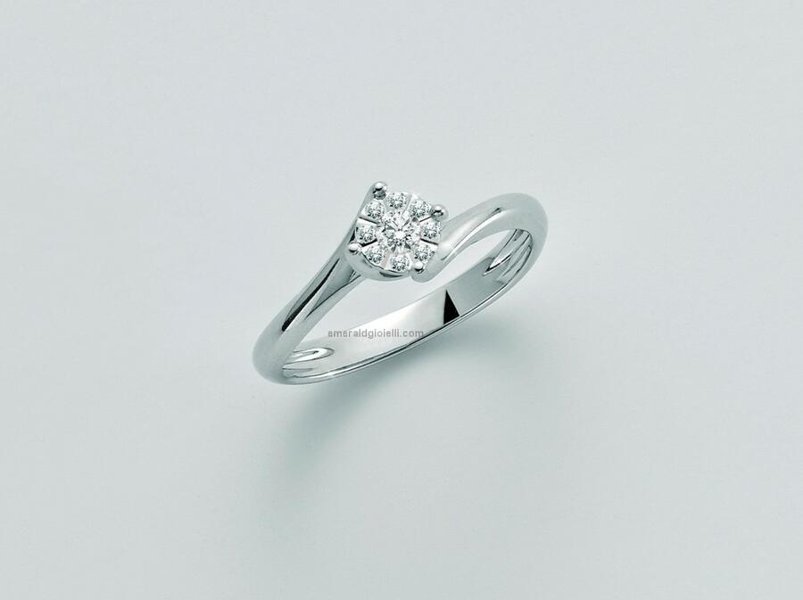 LID3276 Anello Donna con Diamanti Miluna -