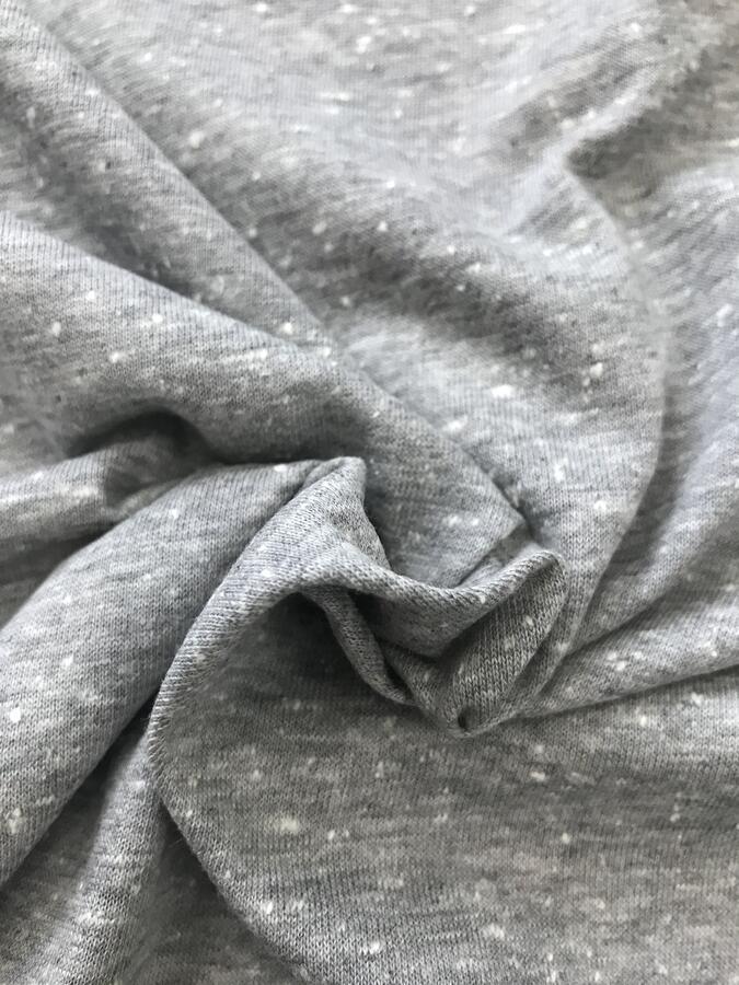 Maglina Jersey cotone grigio chiaro melange