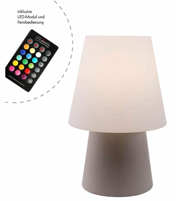 Lampada da Tavolo No. 1 LED Ricaricabile h 30 cm di 8 Seasons Design, Varie Finiture - Offerta di Mondo Luce 24