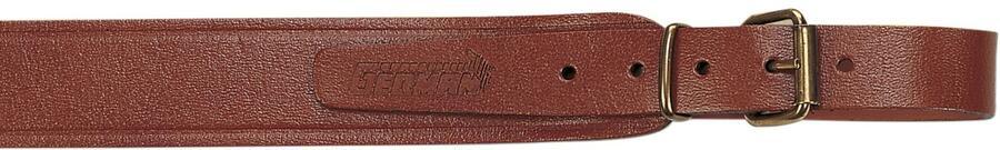 Bretella per fucile in cuoio rigenerato colore marrone chiaro mm.30