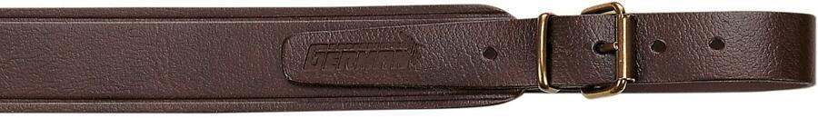 Bretella per fucile in cuoio rigenerato colore marrone scuro mm.30