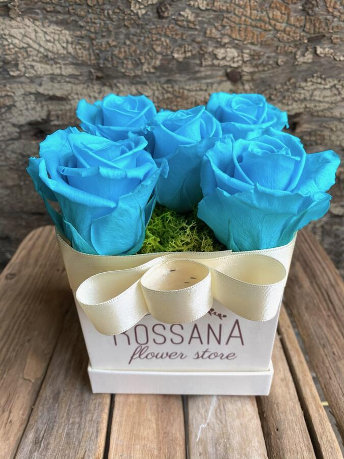 FLOWER BOX Q5 Rossana Collection TURCHESE