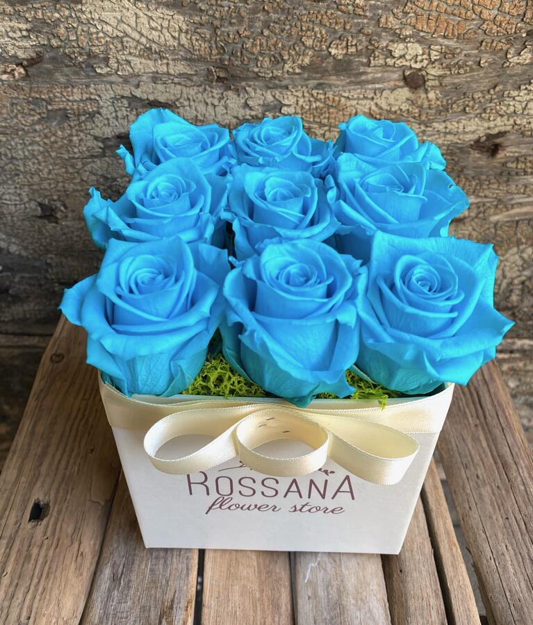FLOWER BOX Q9 Rossana Collection TURCHESE
