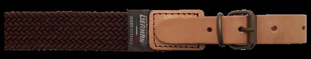 Bretella per fucile in tessuto elastico intrecciato colore marrone mm.30