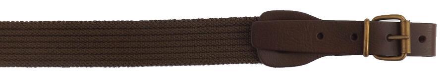 Bretella per fucile in tessuto elastico rigato colore marrone mm.30