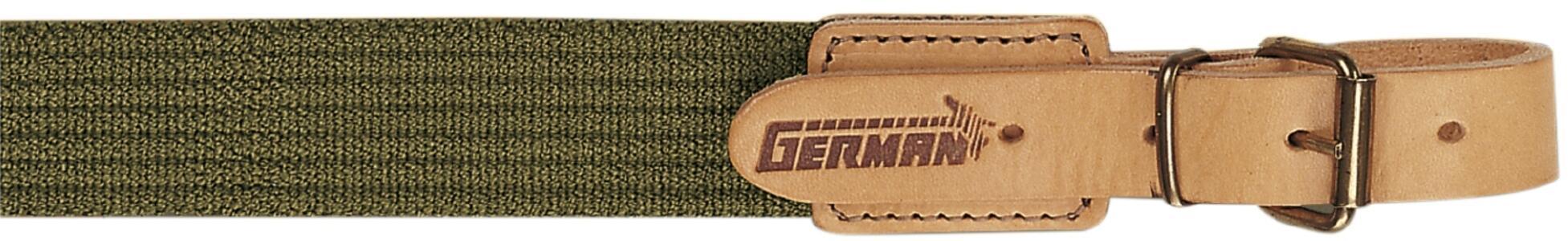 Bretella per fucile in tessuto elastico rigato colore verde militare mm.30