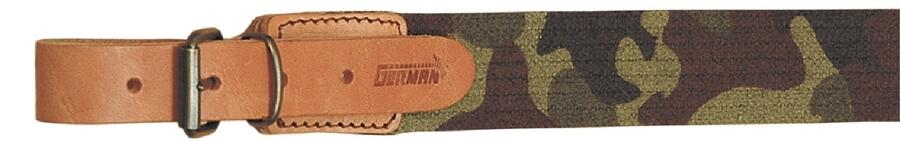 Bretella per fucile in tessuto elastico rigato colore mimetico mm.30